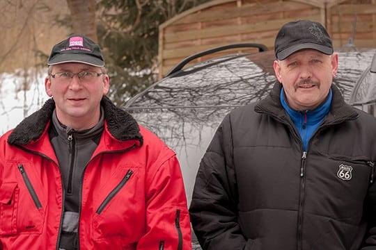 Serviceteam Frank Schönecker und Uwe Ludwig